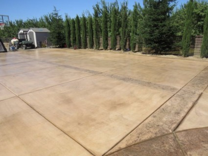 picture of backyard concrete project, rocklin, ca
