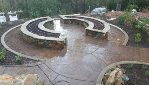 pic of a concrete patio and seating area on a property in Rocklin, California