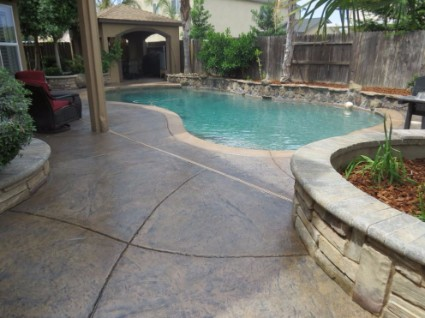 a picture of a resurfaced concrete job in rocklin, ca