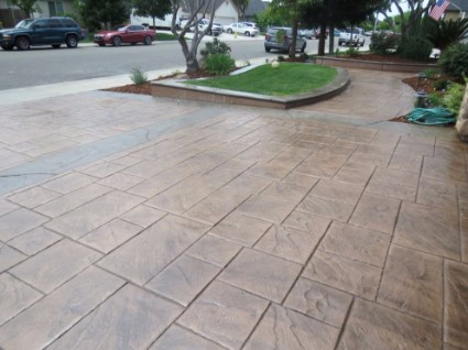 a picture of new concrete contractor project, driveway, rocklin, ca