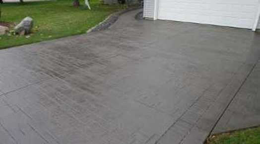 Lincoln Stamped concrete driveway