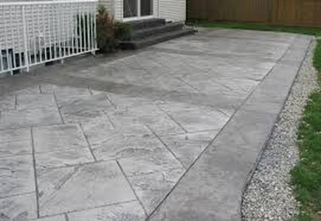 This is an image of aggregate patio in rocklin, california
