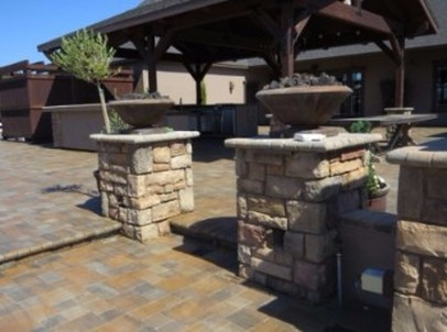 this is a picture of stone pavers in rocklin california